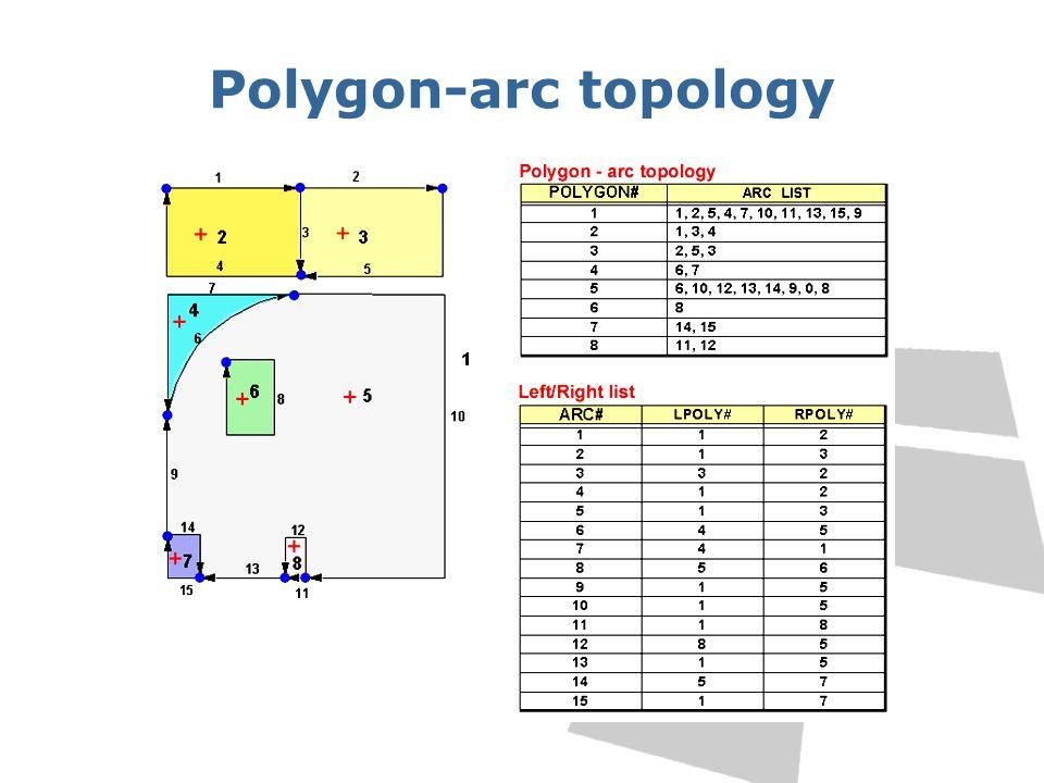 Polygon-arc topology
