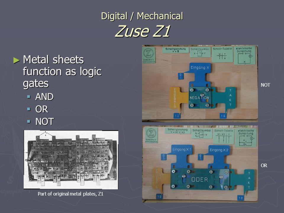 Digital / Mechanical Zuse Z1