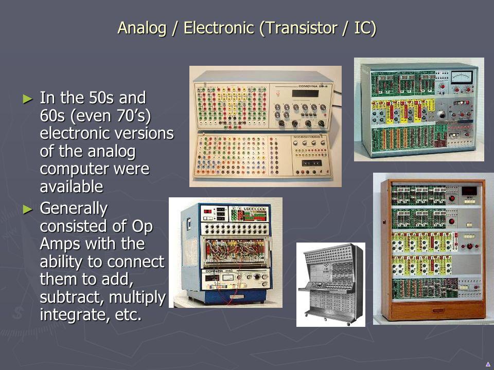 Analog / Electronic (Transistor / IC)