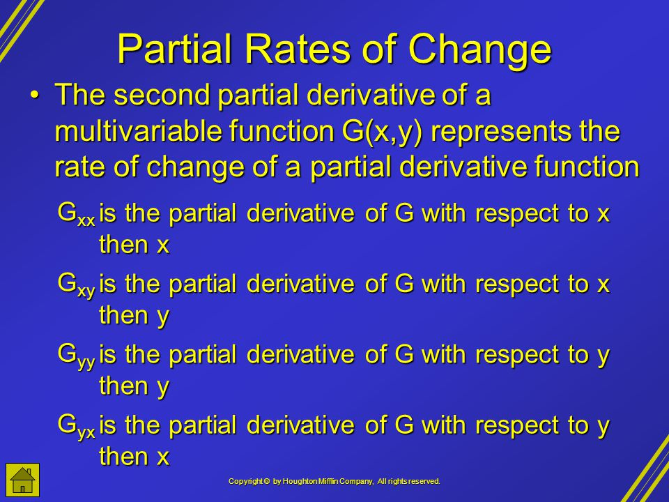 Partial Rates of Change