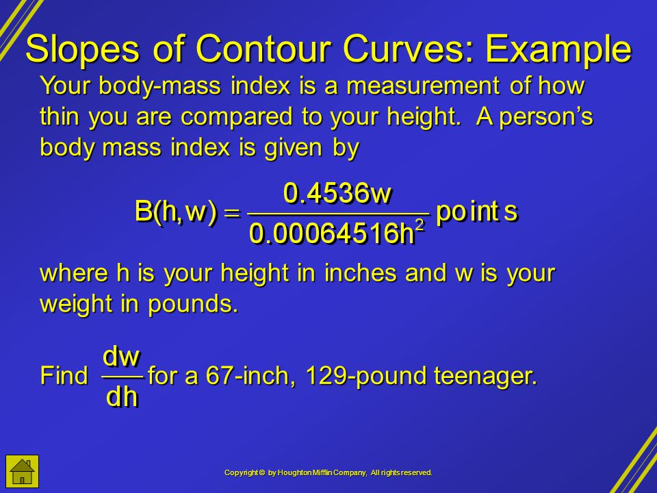 Slopes of Contour Curves: Example