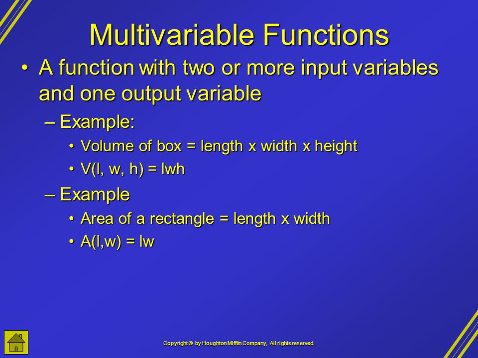Multivariable Functions