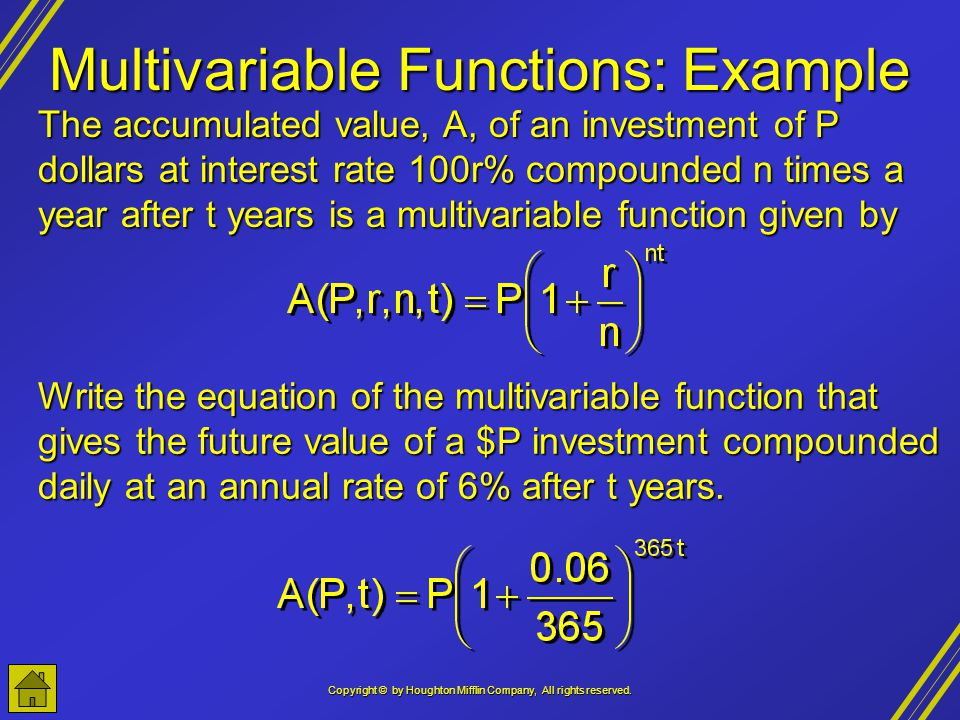 Multivariable Functions: Example
