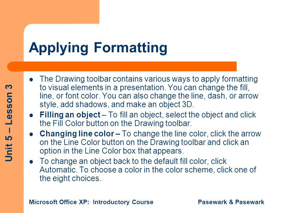 Applying Formatting