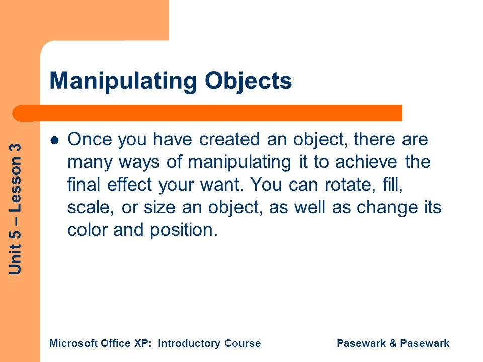 Manipulating Objects