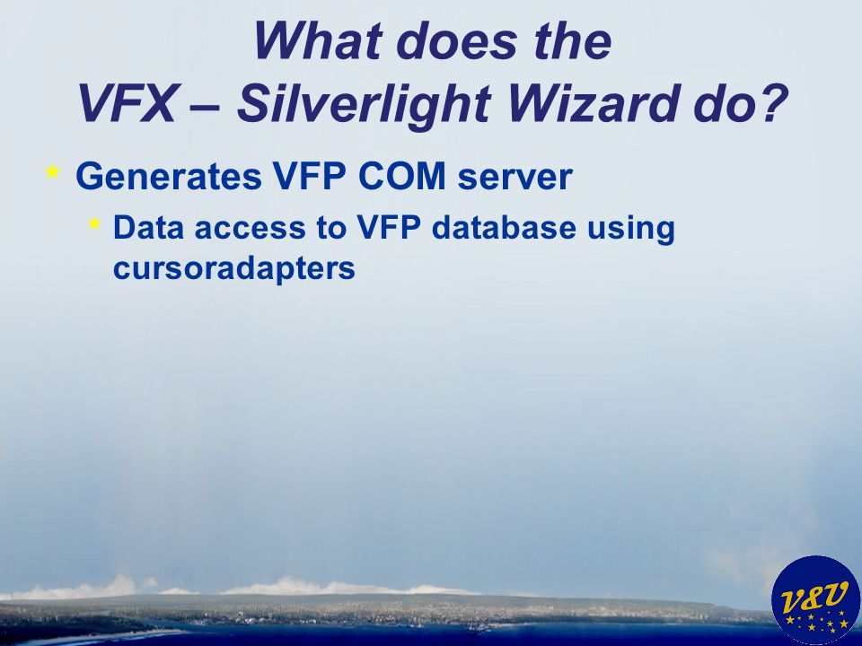 What does the VFX – Silverlight Wizard do