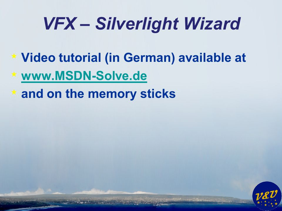 VFX – Silverlight Wizard