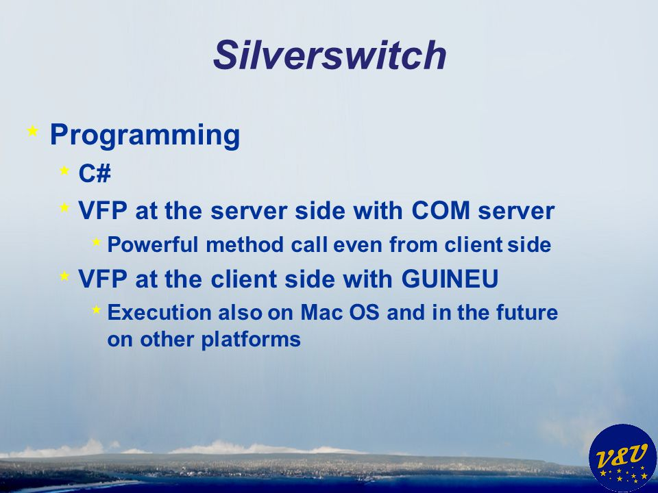 Silverswitch Programming C# VFP at the server side with COM server