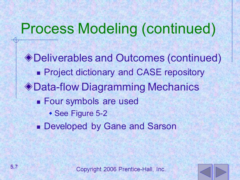 Process Modeling (continued)