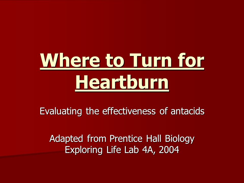 Where to Turn for Heartburn