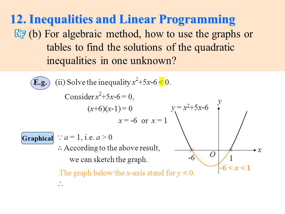 nature and scope of linear programming Theory of linear programming depending on the specific nature of the problem typically, f is assumed to be contin-uous and differentiable.
