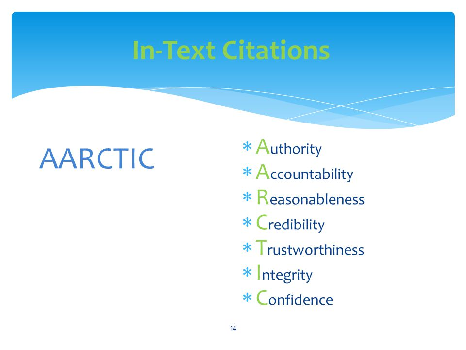 AARCTIC In-Text Citations Authority Accountability Reasonableness