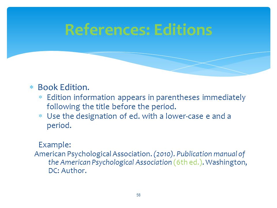 References: Editions Book Edition.