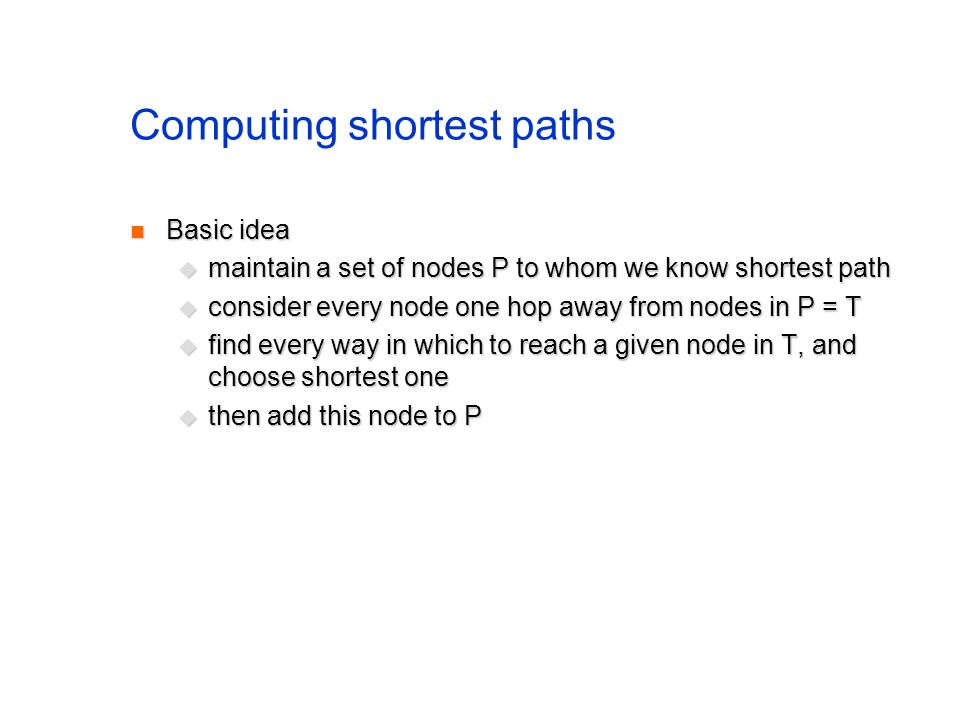 Computing shortest paths