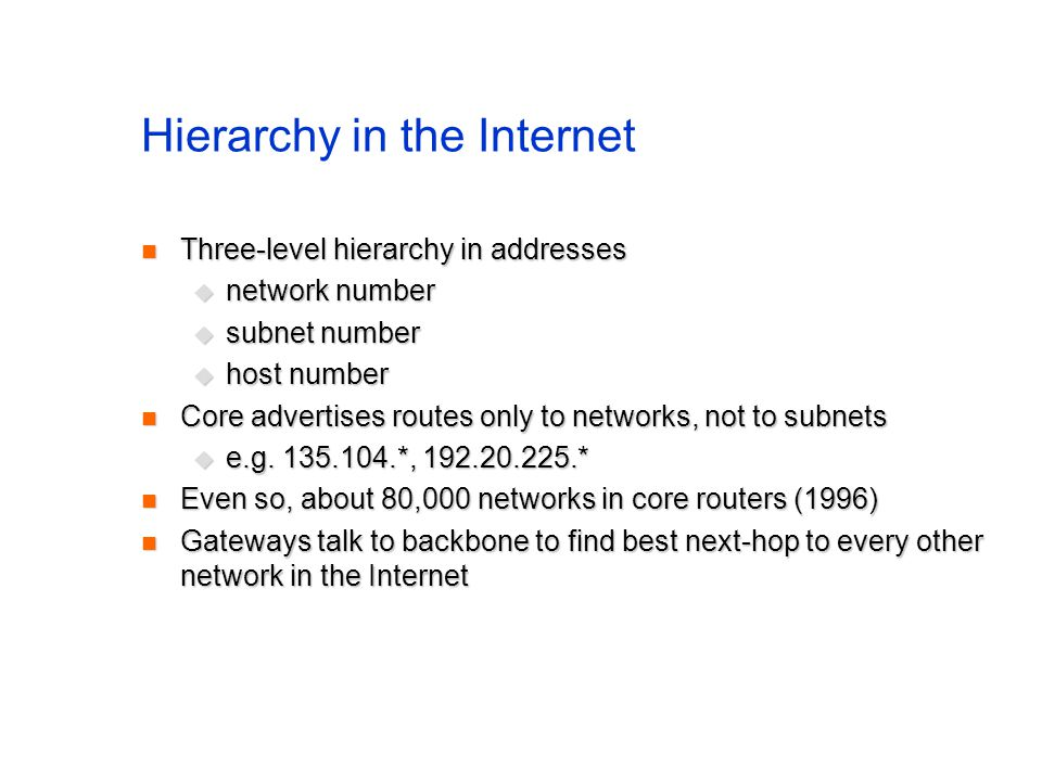 Hierarchy in the Internet