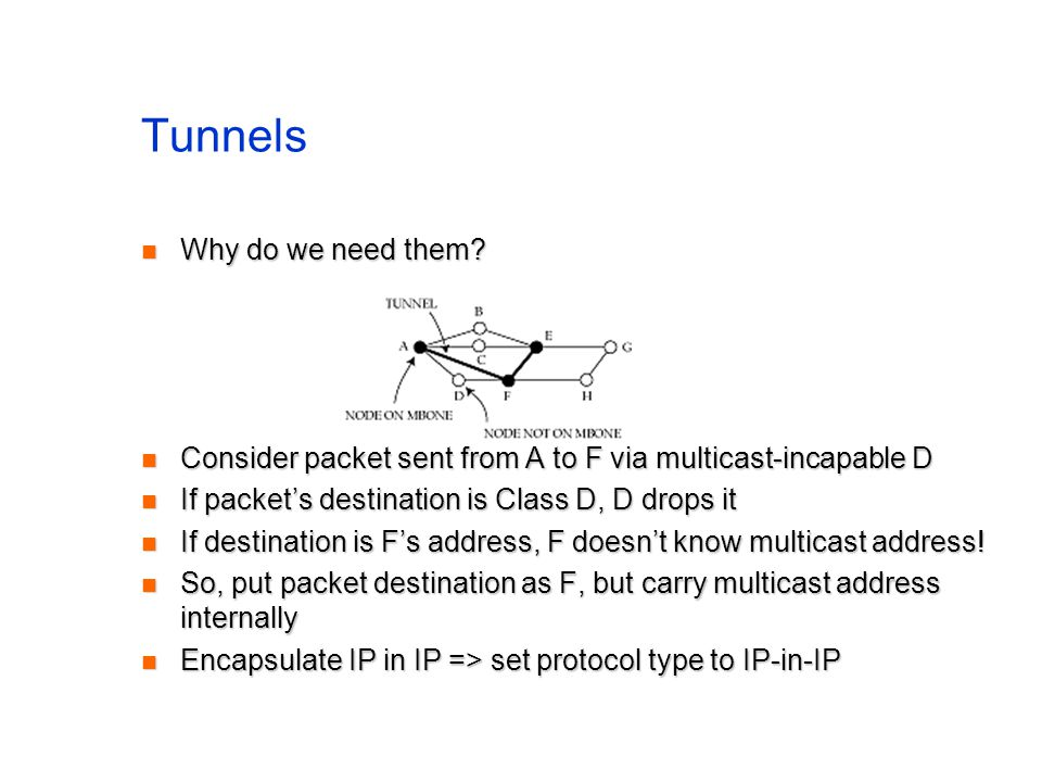Tunnels Why do we need them