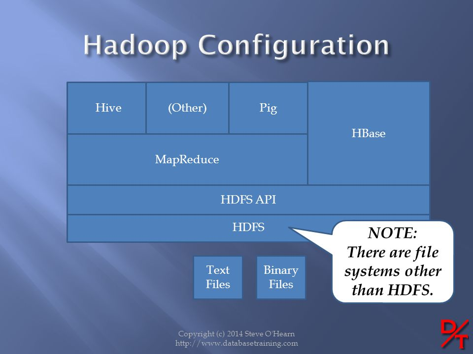 There are file systems other than HDFS.