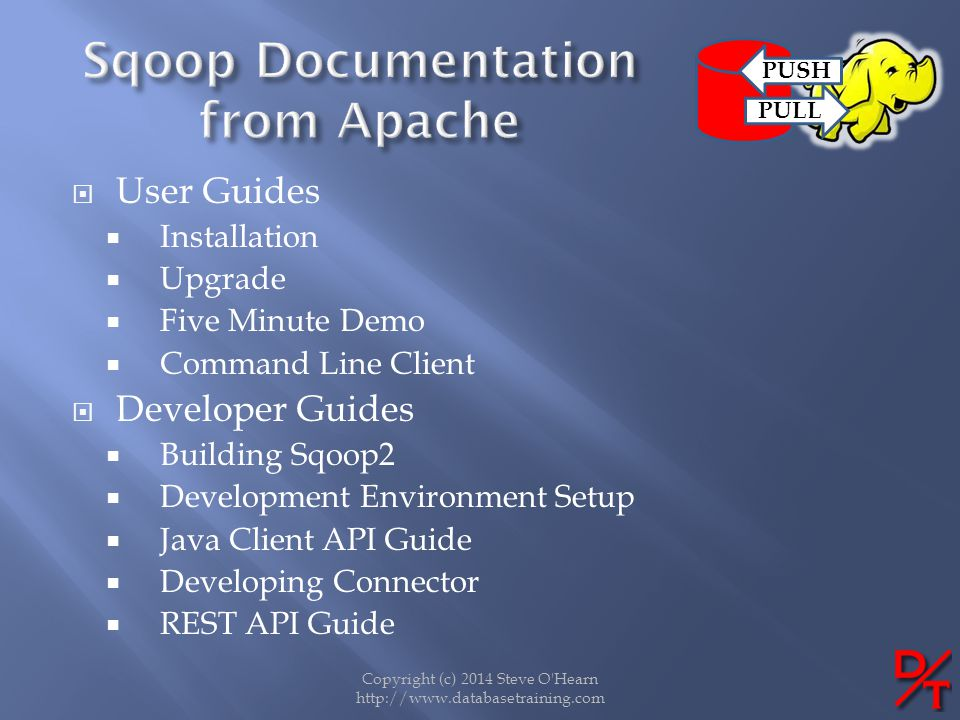 Sqoop Documentation from Apache