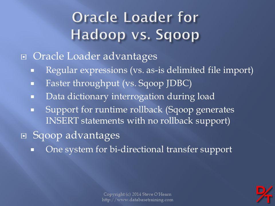 Oracle Loader for Hadoop vs. Sqoop