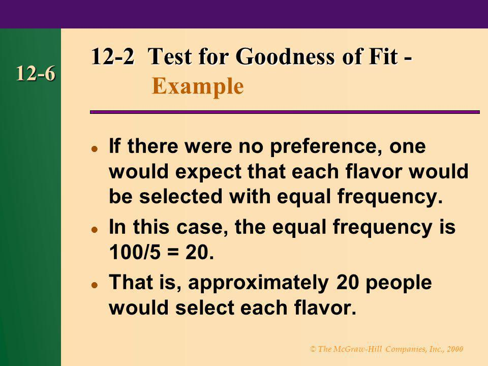 12-2 Test for Goodness of Fit - Example