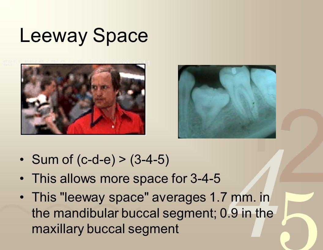 Leeway Space Sum of (c-d-e) > (3-4-5)