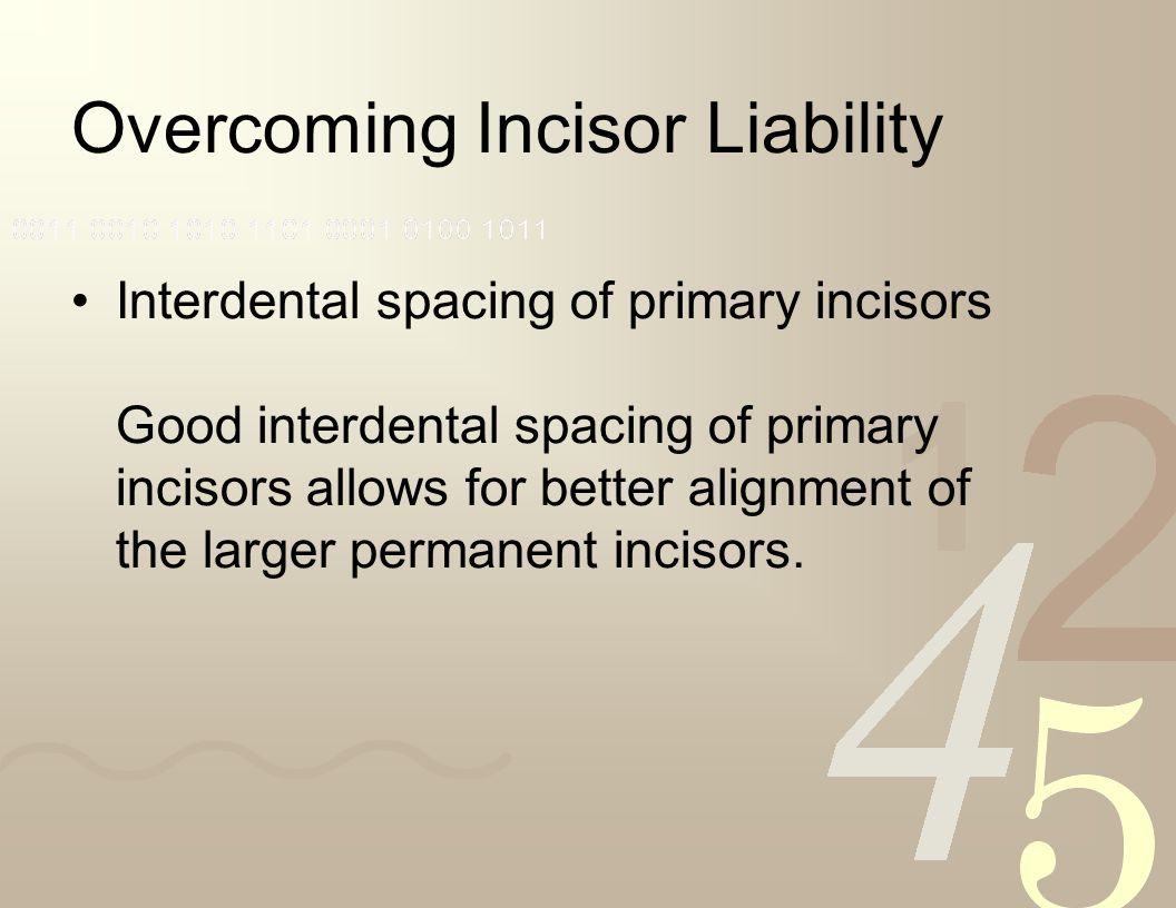 Overcoming Incisor Liability