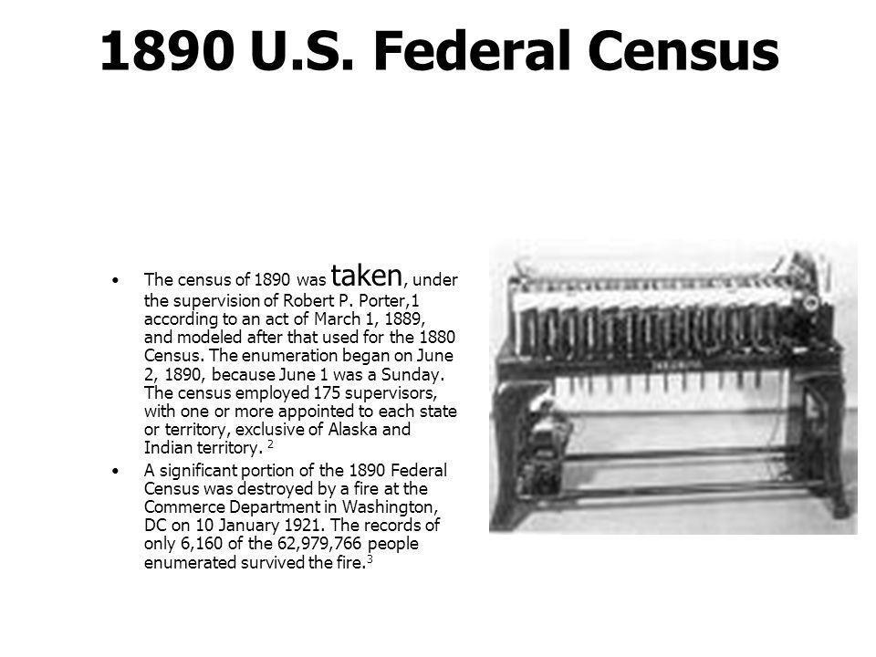 1890 U.S. Federal Census