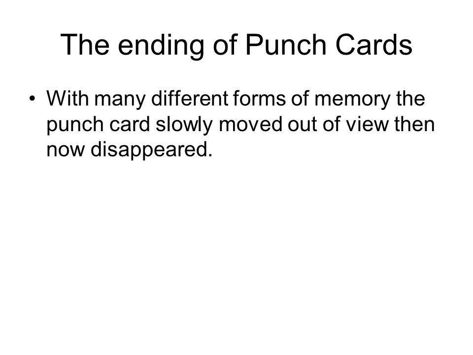 The ending of Punch Cards
