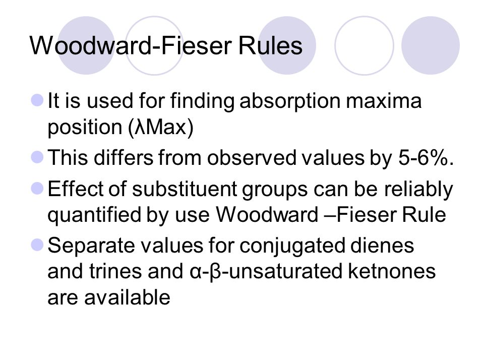 Woodward-Fieser Rules