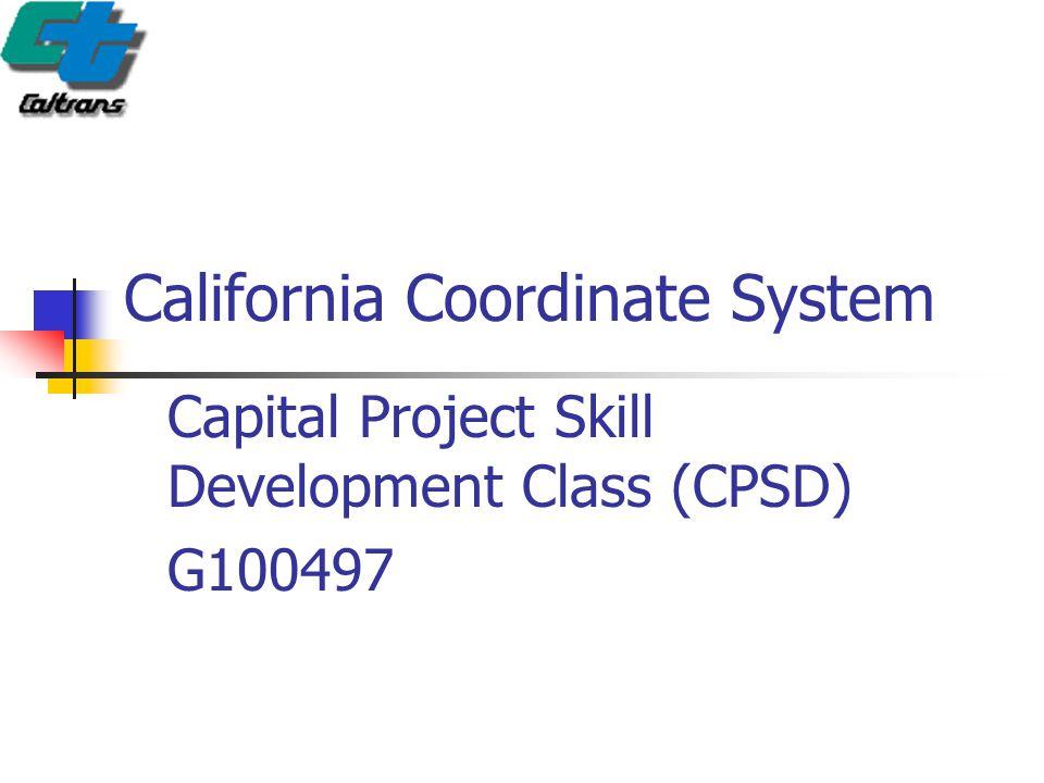 California Coordinate System