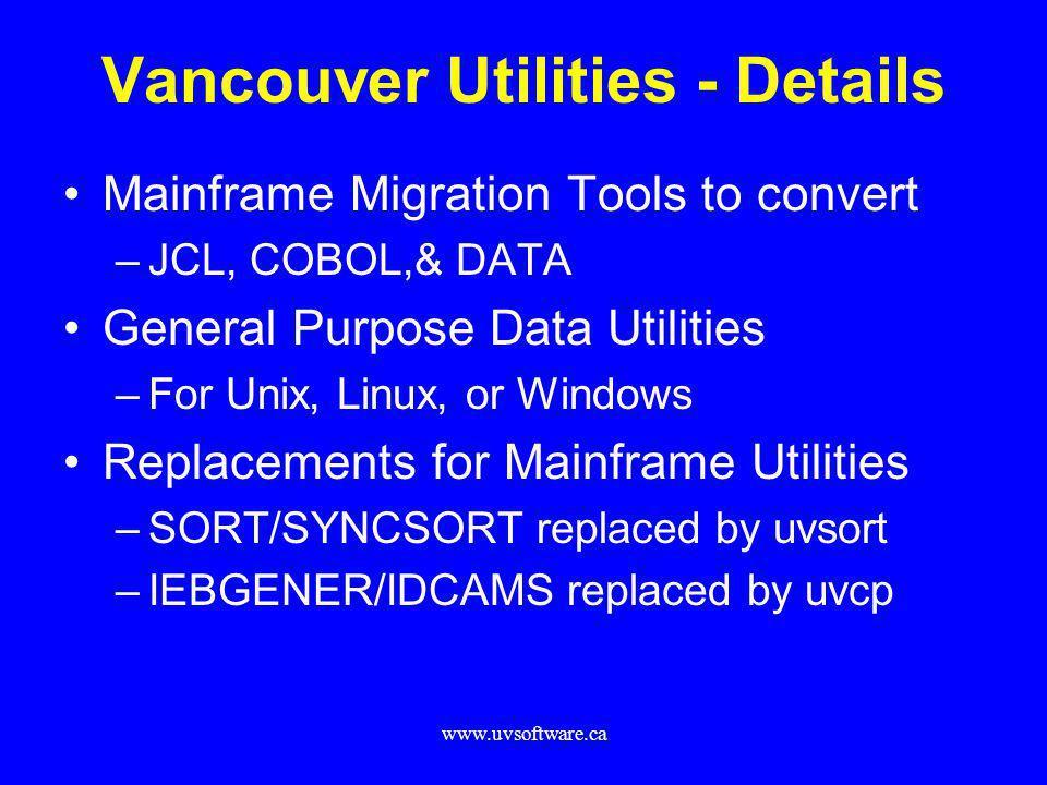 Vancouver Utilities - Details