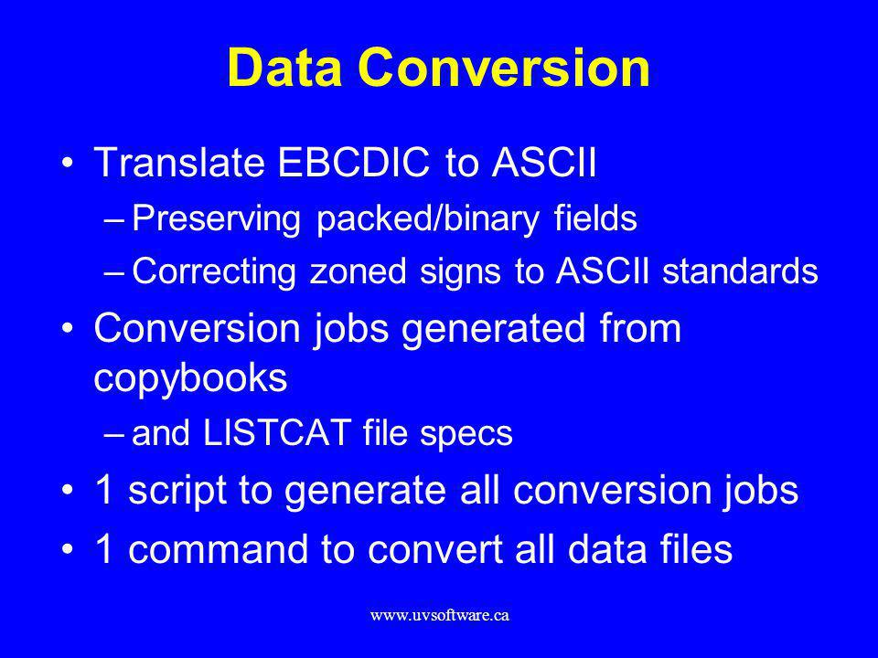 Data Conversion Translate EBCDIC to ASCII