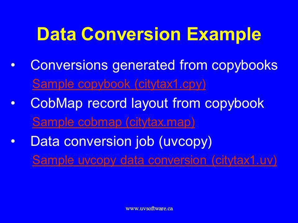 Data Conversion Example