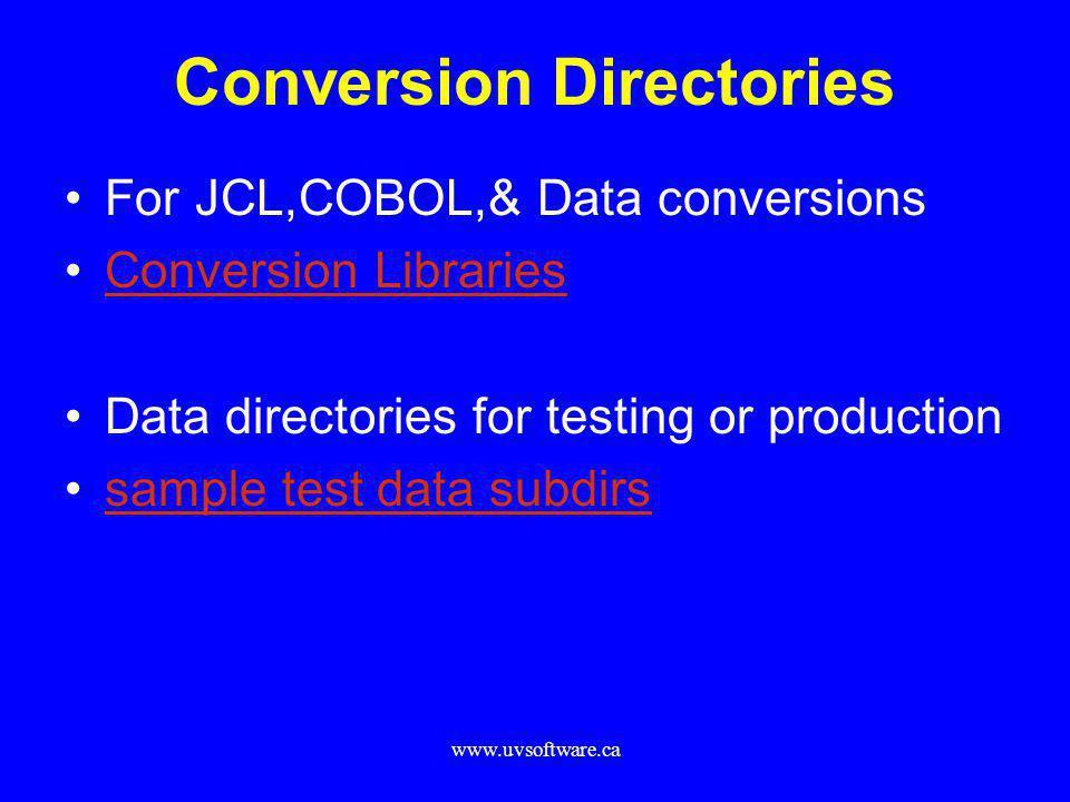 Conversion Directories