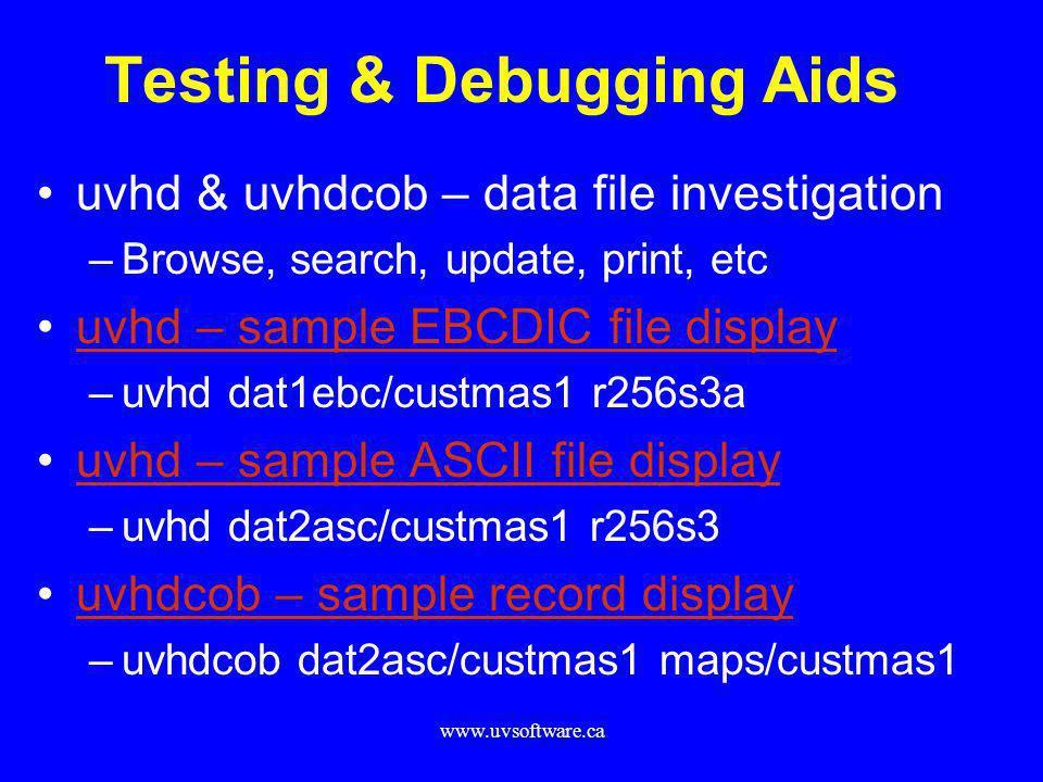 Testing & Debugging Aids