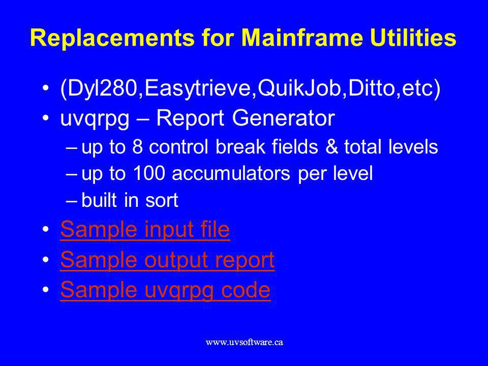 Replacements for Mainframe Utilities