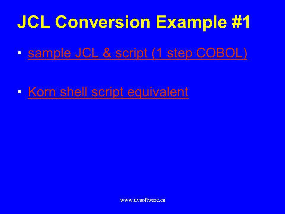 JCL Conversion Example #1