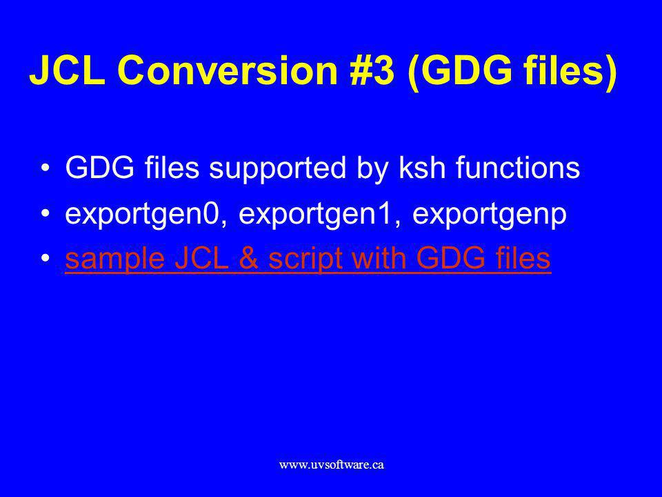 JCL Conversion #3 (GDG files)