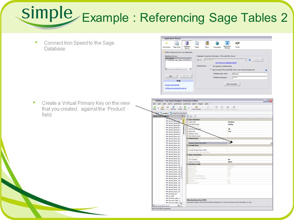 Example : Referencing Sage Tables 2