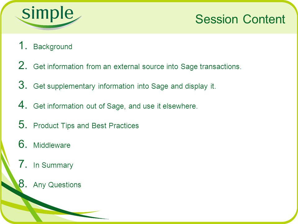 Session Content Background