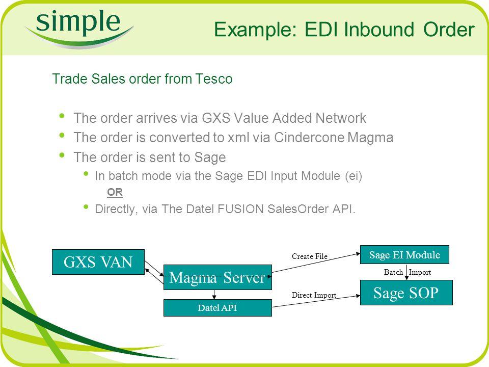 Example: EDI Inbound Order