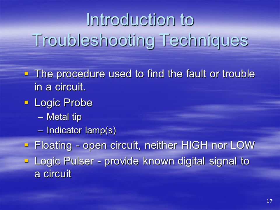 Introduction to Troubleshooting Techniques