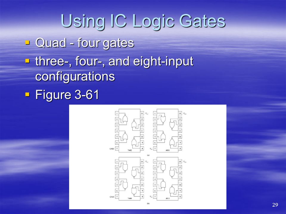 Using IC Logic Gates Quad - four gates