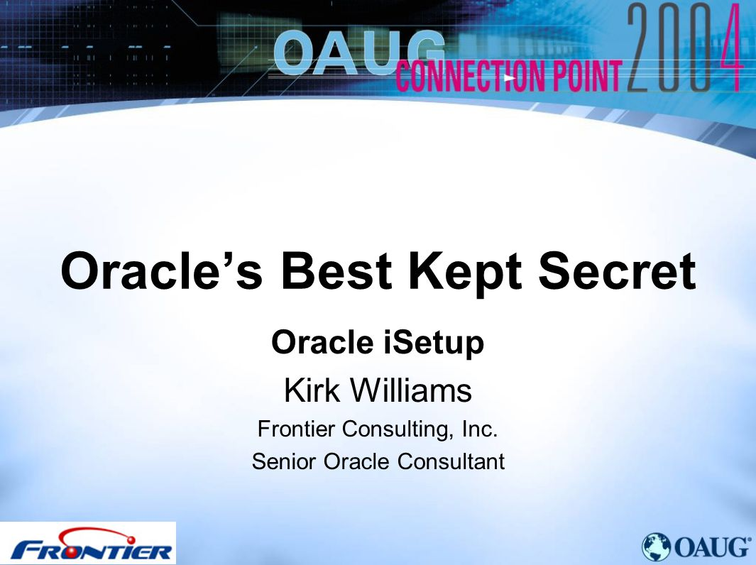 Oracle's Best Kept Secret