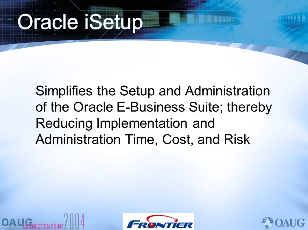 Oracle iSetup