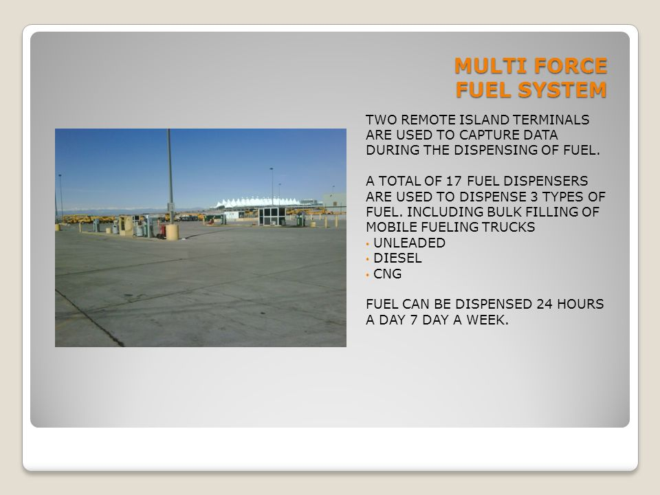 MULTI FORCE FUEL SYSTEM