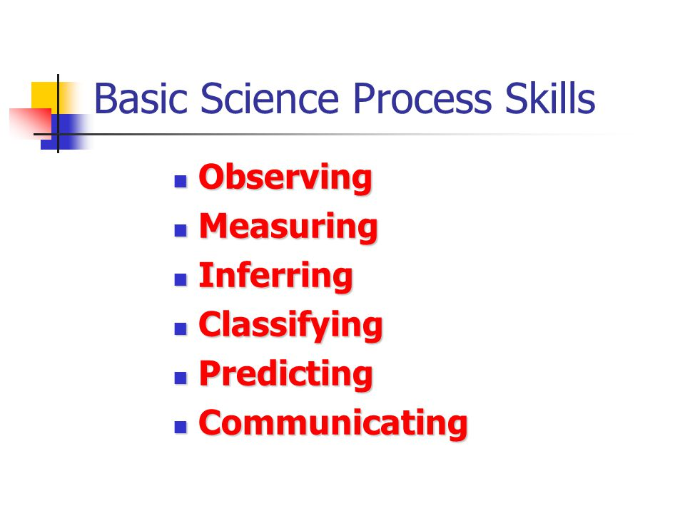 Basic Science Process Skills
