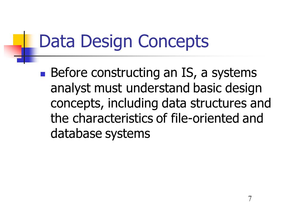 Data Design Concepts