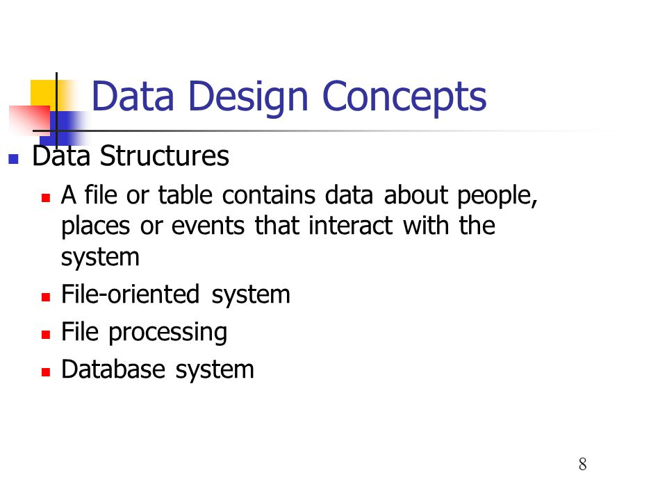 Data Design Concepts Data Structures