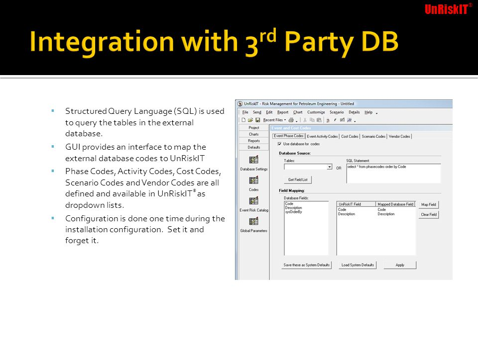 Integration with 3rd Party DB